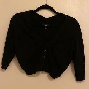Mossimo black cropped cardigan/ sweater - Large